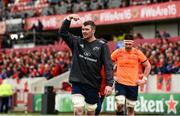 31 March 2018; Peter O'Mahony of Munster prior to the European Rugby Champions Cup quarter-final match between Munster and RC Toulon at Thomond Park in Limerick. Photo by Diarmuid Greene/Sportsfile