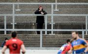 31 March 2018; Down Manager Eamon Burns watching the game from the terraces during the Allianz Football League Roinn 2 Round 6 match between Down and Tipperary at Páirc Esler in Newry, Co Down. Photo by Oliver McVeigh/Sportsfile