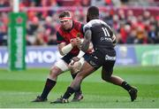 31 March 2018; Peter O'Mahony of Munster in action against Semi Radradra of RC Toulon during the European Rugby Champions Cup quarter-final match between Munster and RC Toulon at Thomond Park in Limerick. Photo by Brendan Moran/Sportsfile