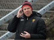 31 March 2018; Down manager Eamon Burns during the Allianz Football League Roinn 2 Round 6 match between Down and Tipperary at Páirc Esler in Newry, Co Down. Photo by Oliver McVeigh/Sportsfile