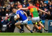 31 March 2018; John O'Loughlin of Laois in action against Brendan Murphy of Carlow during the Allianz Football League Division 4 Final match between Carlow and Laois at Croke Park in Dublin. Photo by Piaras Ó Mídheach/Sportsfile
