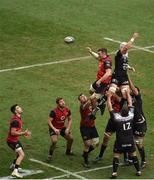 31 March 2018; Peter O'Mahony of Munster wins a line-out during the European Rugby Champions Cup quarter-final match between Munster and RC Toulon at Thomond Park in Limerick. Photo by Ray McManus/Sportsfile