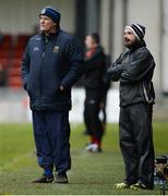 31 March 2018; Tipperary Manager Liam Kearns, left, and selector Shane Stapleton during the Allianz Football League Roinn 2 Round 6 match between Down and Tipperary at Páirc Esler in Newry, Co Down. Photo by Oliver McVeigh/Sportsfile
