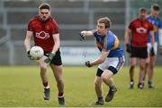 31 March 2018; Connaire Harrison of Down in action against Brian Fox of Tipperary during the Allianz Football League Roinn 2 Round 6 match between Down and Tipperary at Páirc Esler in Newry, Co Down. Photo by Oliver McVeigh/Sportsfile