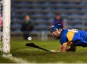 31 March 2018; Jason Forde of Tipperary shoots to score his side's second goal during the Allianz Hurling League Division 1 semi-final match between Tipperary and Limerick at Semple Stadium in Thurles, Tipperary. Photo by Stephen McCarthy/Sportsfile