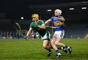 31 March 2018; Tom Morrissey of Limerick in action against Brendan Maher of Tipperary during the Allianz Hurling League Division 1 semi-final match between Tipperary and Limerick at Semple Stadium in Thurles, Tipperary. Photo by Stephen McCarthy/Sportsfile