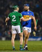 31 March 2018; Jason Forde of Tipperary and Sean Finn of Limerick after the Allianz Hurling League Division 1 semi-final match between Tipperary and Limerick at Semple Stadium in Thurles, Co Tipperary. Photo by Eóin Noonan/Sportsfile