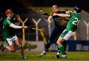 31 March 2018; Tipperary goalkeeper Daragh Mooney clears the final Limerick attack despite the pressure from Pat Ryan, right, and Barry Nash of Limerick during the Allianz Hurling League Division 1 semi-final match between Tipperary and Limerick at Semple Stadium in Thurles, Tipperary. Photo by Stephen McCarthy/Sportsfile