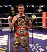31 March 2018; Ryan Burnett following victory over Yonfrez Parejo during their WBA World Bantamweight bout at Principality Stadium in Cardiff, Wales. Photo by Lawrence Lustig / Matchroom Boxing via Sportsfile
