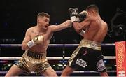 31 March 2018; Ryan Burnett, left, in action against Yonfrez Parejo during their WBA World Bantamweight bout at Principality Stadium in Cardiff, Wales. Photo by Lawrence Lustig / Matchroom Boxing via Sportsfile