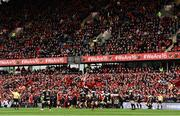 31 March 2018; Peter O'Mahony of Munster wins possession in a lineout ahead of Raphael Lakafia of RC Toulon of the European Rugby Champions Cup quarter-final match between Munster and RC Toulon at Thomond Park in Limerick. Photo by Diarmuid Greene/Sportsfile