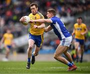 1 April 2018; Conor Devaney of Roscommon in action against Killian Clarke of Cavan during the Allianz Football League Division 2 Final match between Cavan and Roscommon at Croke Park in Dublin. Photo by Stephen McCarthy/Sportsfile