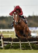 1 April 2018; Pallasator, with Davy Russell up,  jumps the last on their way to winning the Underwriting Exchange Novice Hurdle on Day 1 of the Fairyhouse Easter Festival at Fairyhouse Racecourse in Ratoath, Co Meath. Photo by Seb Daly/Sportsfile