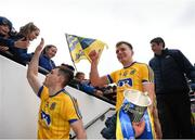 1 April 2018; Enda Smith of Roscommon brings the cup back to the dressing room following the Allianz Football League Division 2 Final match between Cavan and Roscommon at Croke Park in Dublin. Photo by Stephen McCarthy/Sportsfile