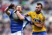 1 April 2018; Seánie Johnston of Cavan in action against Donie Smith of Roscommon during the Allianz Football League Division 2 Final match between Cavan and Roscommon at Croke Park in Dublin. Photo by Piaras Ó Mídheach/Sportsfile