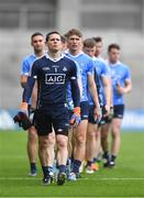 1 April 2018; Dublin captain Stephen Cluxton leads his team-mates in the parade before the Allianz Football League Division 1 Final match between Dublin and Galway at Croke Park in Dublin. Photo by Piaras Ó Mídheach/Sportsfile