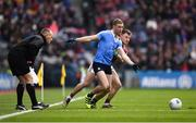 1 April 2018; Paul Mannion of Dublin in action against Eoghan Kerin of Galway during the Allianz Football League Division 1 Final match between Dublin and Galway at Croke Park in Dublin. Photo by Stephen McCarthy/Sportsfile