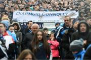 1 April 2018; Dublin supporters on Hill 16 prior to the Allianz Football League Division 1 Final match between Dublin and Galway at Croke Park in Dublin. Photo by Stephen McCarthy/Sportsfile