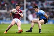 1 April 2018; Shane Walsh of Galway in action against David Byrne of Dublin during the Allianz Football League Division 1 Final match between Dublin and Galway at Croke Park in Dublin. Photo by Stephen McCarthy/Sportsfile