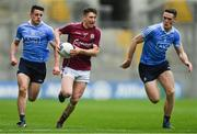 1 April 2018; Johnny Keaney of Galway in action against Brian Howard, left, and Brian Fenton of Dublin during the Allianz Football League Division 1 Final match between Dublin and Galway at Croke Park in Dublin. Photo by Piaras Ó Mídheach/Sportsfile