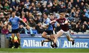 1 April 2018; Niall Scully of Dublin in action against Eoghan Kerin, left, and Seán Andy Ó Ceallaigh of Galway during the Allianz Football League Division 1 Final match between Dublin and Galway at Croke Park in Dublin. Photo by Daire Brennan/Sportsfile
