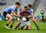 1 April 2018; Cathal Sweeney of Galway in action against Eric Lowndes, left, and Brian Howard of Dublin during the Allianz Football League Division 1 Final match between Dublin and Galway at Croke Park in Dublin. Photo by Daire Brennan/Sportsfile