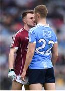 1 April 2018; Eoghan Kerin of Galway and Paul Mannion of Dublin during the Allianz Football League Division 1 Final match between Dublin and Galway at Croke Park in Dublin. Photo by Stephen McCarthy/Sportsfile