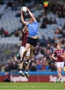 1 April 2018; Brian Howard of Dublin in action against Gareth Bradshaw of Galway during the Allianz Football League Division 1 Final match between Dublin and Galway at Croke Park in Dublin. Photo by Stephen McCarthy/Sportsfile