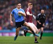 1 April 2018; Niall Scully of Dublin in action against Declan Kyne of Galway during the Allianz Football League Division 1 Final match between Dublin and Galway at Croke Park in Dublin. Photo by Stephen McCarthy/Sportsfile