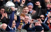 1 April 2018; Dublin captain Stephen Cluxton lifts the cup after the Allianz Football League Division 1 Final match between Dublin and Galway at Croke Park in Dublin. Photo by Piaras Ó Mídheach/Sportsfile