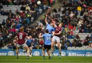 1 April 2018; Eric Lowndes of Dublin in action against Ciarán Duggan of Galway during the Allianz Football League Division 1 Final match between Dublin and Galway at Croke Park in Dublin. Photo by Daire Brennan/Sportsfile