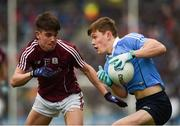 1 April 2018; Con O'Callaghan of Dublin in action against Seán Kelly of Galway during the Allianz Football League Division 1 Final match between Dublin and Galway at Croke Park in Dublin. Photo by Daire Brennan/Sportsfile