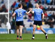 1 April 2018; Dean Rock, right, and Con O'Callaghan of Dublin following the Allianz Football League Division 1 Final match between Dublin and Galway at Croke Park in Dublin. Photo by Stephen McCarthy/Sportsfile