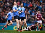 1 April 2018; Dean Rock, right, and his Dublin team-mate Con O'Callaghan react to a missed opportunity during the Allianz Football League Division 1 Final match between Dublin and Galway at Croke Park in Dublin. Photo by Stephen McCarthy/Sportsfile