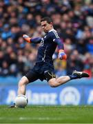 1 April 2018; Stephen Cluxton of Dublin takes a kick-out during the Allianz Football League Division 1 Final match between Dublin and Galway at Croke Park in Dublin. Photo by Piaras Ó Mídheach/Sportsfile