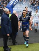 1 April 2018; Rob Kearney of Leinster ahead of the European Rugby Champions Cup quarter-final match between Leinster and Saracens at the Aviva Stadium in Dublin. Photo by Ramsey Cardy/Sportsfile