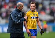 1 April 2018; Roscommon selector Liam McHale with Enda Smith after the Allianz Football League Division 2 Final match between Cavan and Roscommon at Croke Park in Dublin. Photo by Piaras Ó Mídheach/Sportsfile