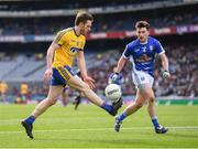 1 April 2018; Conor Devaney of Roscommon and Enda Flanagan of Cavan during the Allianz Football League Division 2 Final match between Cavan and Roscommon at Croke Park in Dublin. Photo by Stephen McCarthy/Sportsfile
