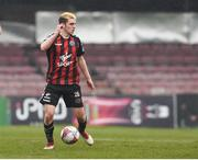 2 April 2018; Dylan Watts of Bohemians during the EA SPORTS Cup Second Round match between Bohemians and UCD at Dalymount Park in Dublin. Photo by Tom Beary/Sportsfile