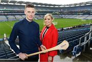 3 April 2018; Littlewoods Ireland today launched the GAA Go Games Provincial Days with their ambassadors; former All Ireland Champion with Cork Anna Geary and Waterford hurler Austin Gleeson. This is the second year that Littlewoods Ireland have been involved in this once-in-a-lifetime opportunity to give children all over the country the chance to play in Croke Park Stadium. The initiative will see over 4,000 children from Leinster and Munster take part in mini versions of hurling and football blitzes at Croke Park over the course of a week during the Easter holidays. The Go Games Provincial Days for Ulster and Connacht will take place in September. Pictured are Waterford hurler Austin Gleeson and former All Ireland Champion with Cork Anna Geary at Croke Park, in Dublin. Photo by Sam Barnes/Sportsfile
