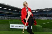3 April 2018; Littlewoods Ireland today launched the GAA Go Games Provincial Days with their ambassadors; former All Ireland Champion with Cork Anna Geary and Waterford hurler Austin Gleeson. This is the second year that Littlewoods Ireland have been involved in this once-in-a-lifetime opportunity to give children all over the country the chance to play in Croke Park Stadium. The initiative will see over 4,000 children from Leinster and Munster take part in mini versions of hurling and football blitzes at Croke Park over the course of a week during the Easter holidays. The Go Games Provincial Days for Ulster and Connacht will take place in September. Pictured is former All Ireland Champion with Cork Anna Geary at Croke Park, in Dublin. Photo by Sam Barnes/Sportsfile