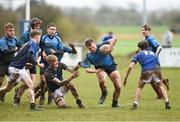 4 April 2018; Sean Walsh of Metro is tackled by Fionn McWey of North Midlands during the Shane Horgan Cup 5th Round match between North Midlands and Metro at Tullow RFC in Tullow, Co Carlow. Photo by Matt Browne/Sportsfile
