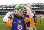 4 April 2018; Christopher Sammon of Ballinkillen, Co Carlow, puts on his helmet during Day 2 of the The Go Games Provincial days in partnership with Littlewoods Ireland at Croke Park in Dublin. Photo by Piaras Ó Mídheach/Sportsfile