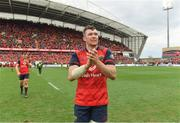 31 March 2018; Peter O'Mahony of Munster applauds fans after the European Rugby Champions Cup quarter-final match between Munster and Toulon at Thomond Park in Limerick. Photo by Brendan Moran/Sportsfile