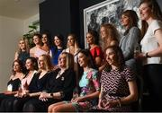 6 April 2018; Award winners, back row, from left, Aoife McGough, Emma Kevany, Méabh McGleenan, Aisling Sorohan, Amy Louise Dempsey, Aoibheann Jones, Roisin Devlin, Katelyn O'Sullivan, Eva Gilmore and front row, from left Laura Kane, Caoileann Conway, Lorraine Heskin, MD Gourmet Food Parlour, Marie Hickey, President of the Ladies Gaelic Football Association, Claire Canavan and Melissa Duggan after receiving their Gourmet Food Parlour LGFA HEC Rising Star Awards at the Croke Park Hotel on Friday, April 6th. The Gourmet Food Parlour LGFA HEC Rising Stars recognised the best performers in the fourth, fifth and sixth tier competitions. GFP O'Connor Cup weekend was recently hosted by IT Blanchardstown and the GAA's National Games Development Centre in Abbotstown. The Croke Park Hotel in Dublin, Jones' Road, Dublin  Photo by David Fitzgerald/Sportsfile