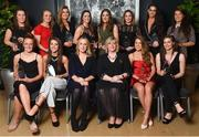 6 April 2018; 6 April 2018; Award winners, back row, from left, Emer Ní Éafa, Shauna Howley, Grace Kelly, Eimear Scally, Emma Murray, Laura McGinley, Deirdre Geaney, Leah Caffrey and front row, from left, Aishling Moloney, Niamh Kelly, Lorraine Heskin, MD Gourmet Food Parlour, will , Marie Hickey, President of the Ladies Gaelic Football Association, Sarah Rowe and Maria Curley after receiving their Gourmet Food Parlour LGFA HEC O'Connor Cup All Star Awards at the Croke Park Hotel on Friday, April 6th. The Gourmet Food Parlour O'Connor Cup All Star team featured performers from the GFP O'Connor, Giles and Lynch Cup competitions. GFP O'Connor Cup weekend was recently hosted by IT Blanchardstown and the GAA's National Games Development Centre in Abbotstown. The Croke Park Hotel in Dublin, Jones' Road, Dublin. Photo by David Fitzgerald/Sportsfile