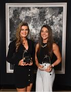 6 April 2018; Grace Kelly, left, and Niamh Kelly with their Gourmet Food Parlour LGFA HEC O'Connor Cup All Star Awards at the Croke Park Hotel on Friday, April 6th. The Gourmet Food Parlour LGFA HEC Rising Stars and O'Connor Cup All Stars recognised the best performers from the GFP O'Connor Cup weekend, recently hosted by IT Blanchardstown and the GAA's National Games Development Centre in Abbotstown. The Croke Park Hotel in Dublin, Jones' Road, Dublin. Photo by David Fitzgerald/Sportsfile
