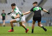 7 April 2018; Jason Doory of St Nathy's College in action against Tarlach Quinn of Holy Trinity College during the Masita GAA All Ireland Post Primary Schools Paddy Drummond Cup Final match between St Nathy's College Ballaghaderreen and Holy Trinity College Cookstown at Croke Park in Dublin. Photo by Piaras Ó Mídheach/Sportsfile