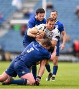 7 April 2018; Giulio Bisegni of Zebre is tackled by Tadhg Furlong of Leinster during the Guinness PRO14 Round 19 match between Leinster and Zebre at the RDS Arena in Dublin. Photo by Sam Barnes/Sportsfile