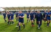 7 April 2018; The Leinster team following the Guinness PRO14 Round 19 match between Leinster and Zebre at the RDS Arena in Dublin. Photo by Ramsey Cardy/Sportsfile